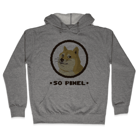 Pixel Doge Hooded Sweatshirt