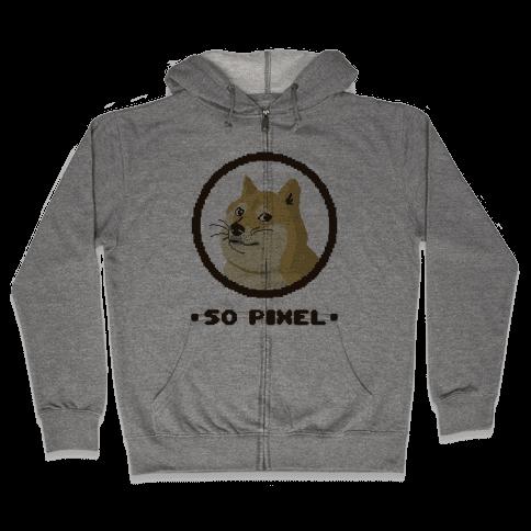 Pixel Doge Zip Hoodie