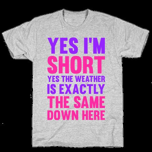 Yes I'm Short Mens T-Shirt