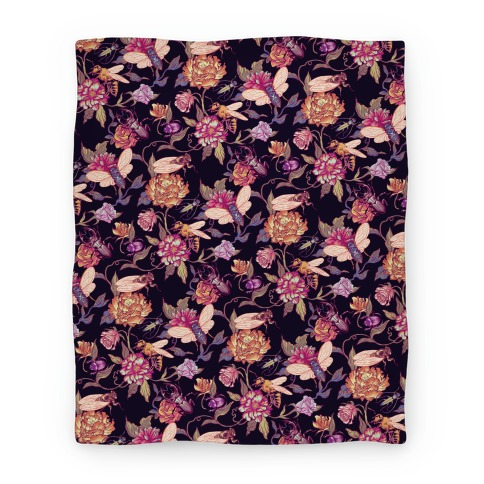 Florals & Hidden Insects Blanket