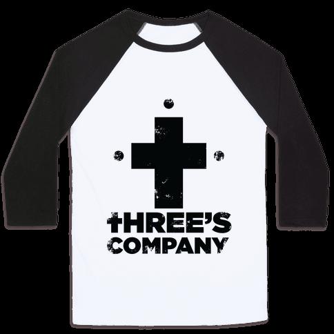 Three's Company Baseball Tee