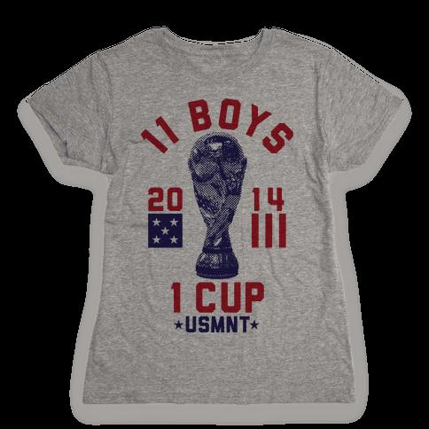 11 Boys 1 Cup Womens T-Shirt