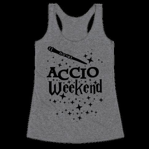 Accio Weekend! Racerback Tank Top
