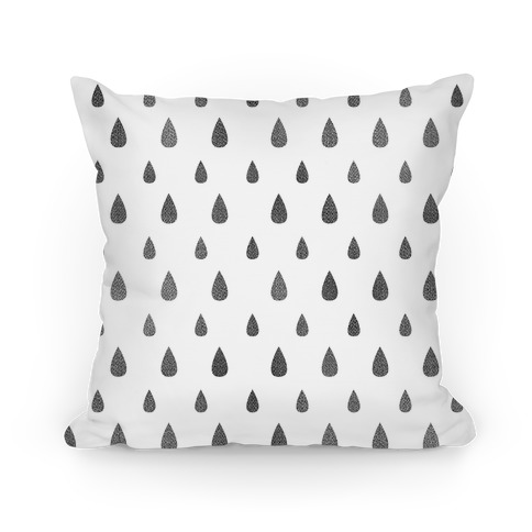 Black Tear Drop Pattern Pillow
