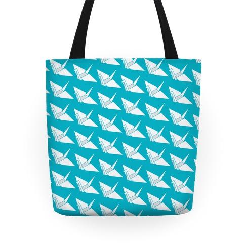 Origami Crane Pattern Tote