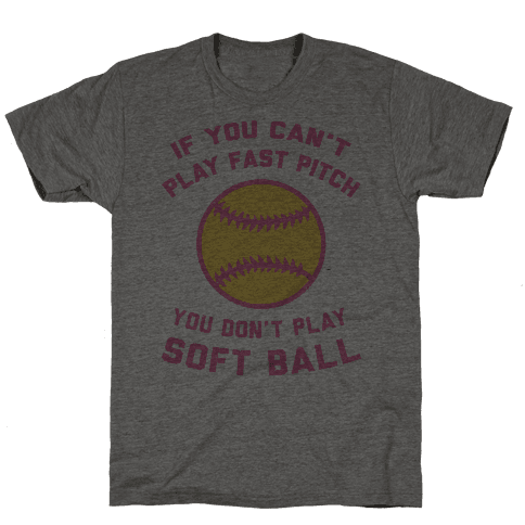 Fast Pitch Softball Mens T-Shirt