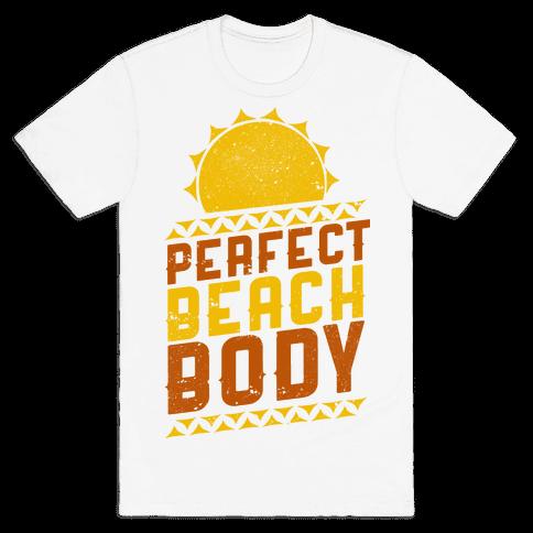 Perfect Beach Body (Color) Mens T-Shirt
