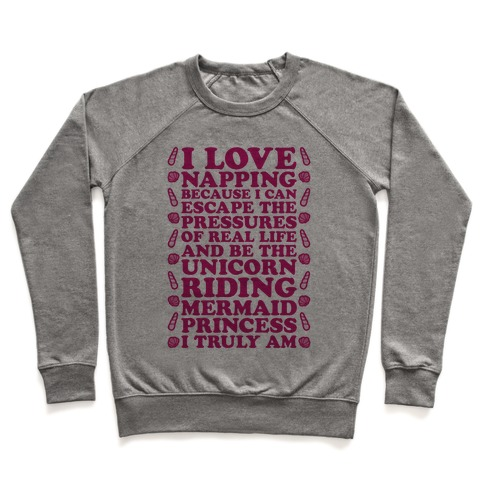 I Love Napping Crewneck Sweatshirt | LookHUMAN