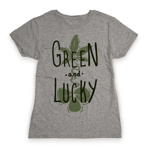 Green and Lucky Womens T-Shirt