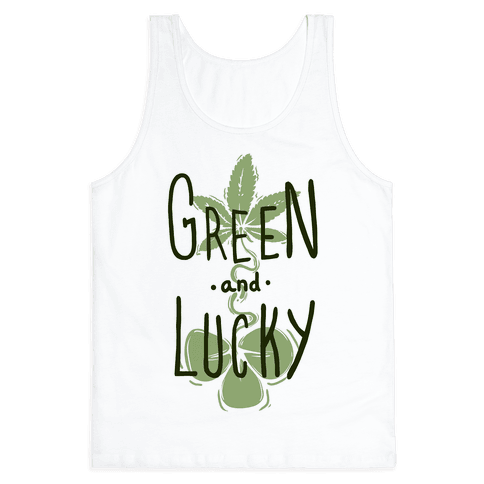 Green and Lucky Tank Top