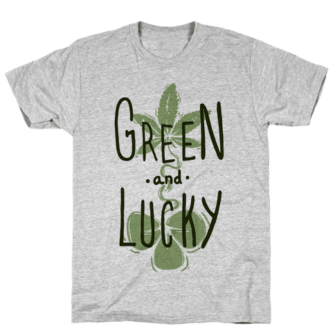 Green and Lucky Mens T-Shirt