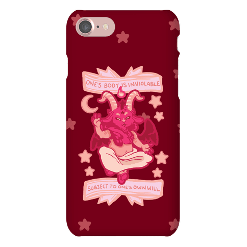 One's Body Is Inviolable Subject To One's Own Will Phone Case