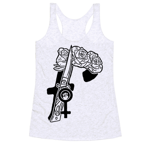 F Is For Feminism Racerback Tank Top