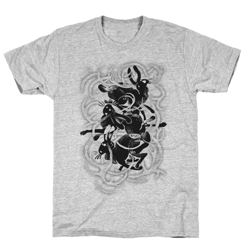 Jackalope In The Woods Mens T-Shirt