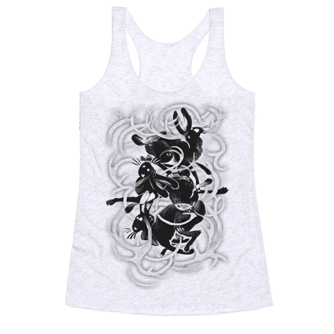 Jackalope In The Woods Racerback Tank Top