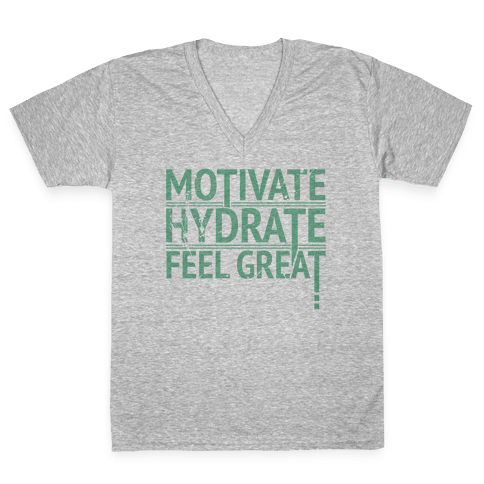 Motivation V-Neck Tee Shirt