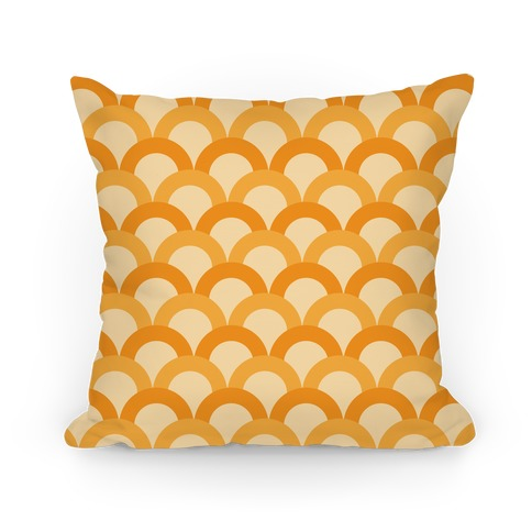 Orange Scale Pattern Pillow