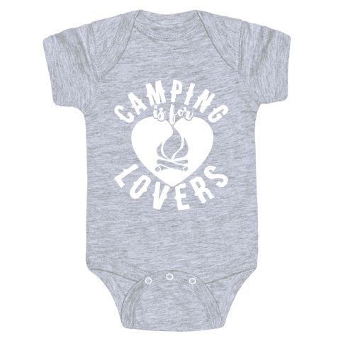 Camping Is For Lovers Baby Onesy