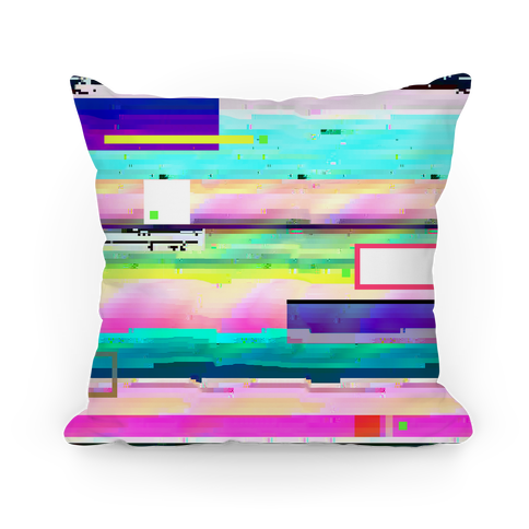Glitch Pattern Pillow
