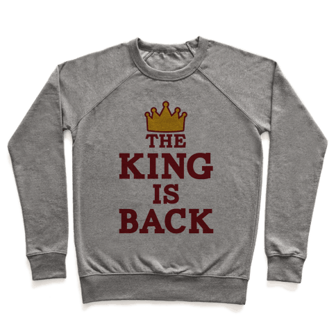 The King Is Back Pullover