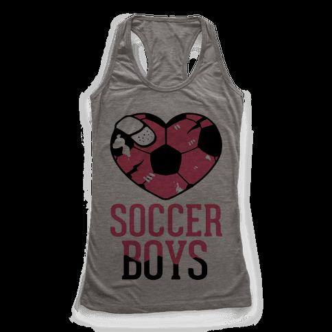 Soccer Boys Racerback Tank Top