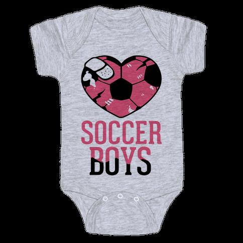 Soccer Boys Baby Onesy