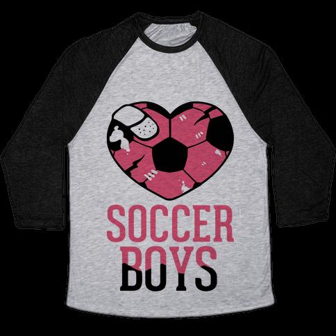 Soccer Boys Baseball Tee