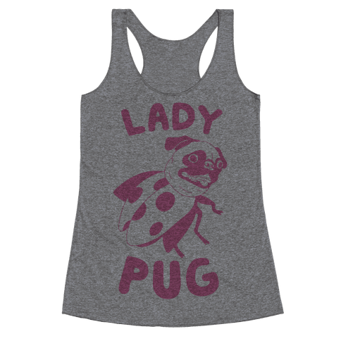 Lady Pug Racerback Tank Top