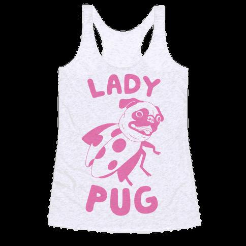 Lady Pug Racerback Tank Top