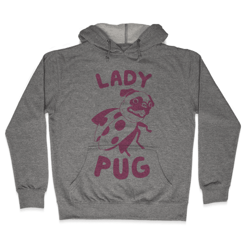 Lady Pug Hooded Sweatshirt