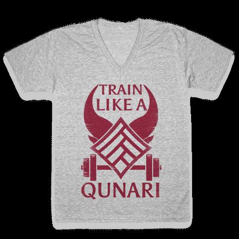 Train Like A Qunari V-Neck Tee Shirt