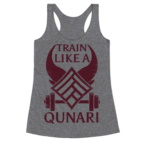 Train Like A Qunari Racerback Tank Top