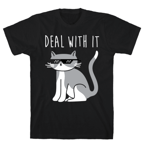 Deal With It Cat Mens T-Shirt