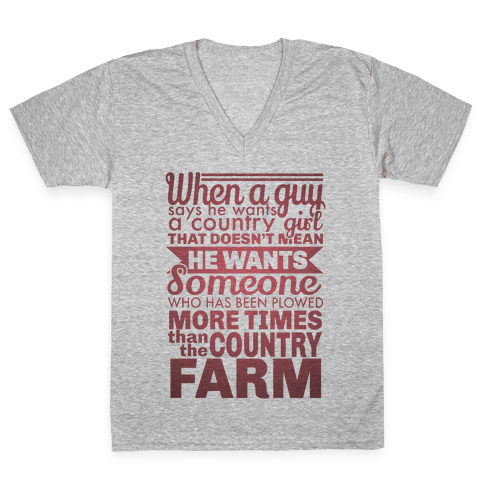 That Country Love V-Neck Tee Shirt