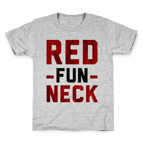 Red Fun Neck Kids T-Shirt