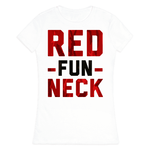 Red Fun Neck Womens T-Shirt