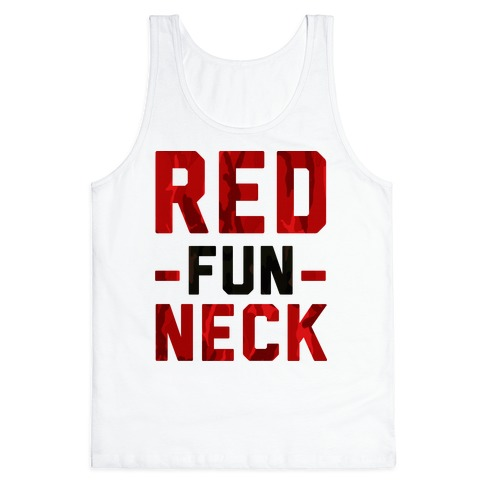 Red Fun Neck Tank Top