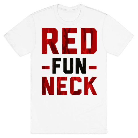 Red Fun Neck Mens T-Shirt