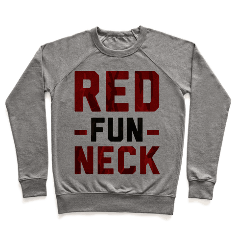 Red Fun Neck Pullover