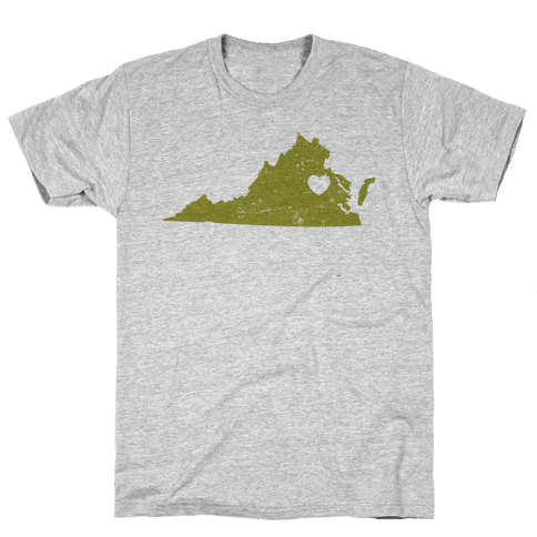 Virginia Heart Mens T-Shirt