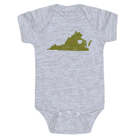 Virginia Heart Baby Onesy