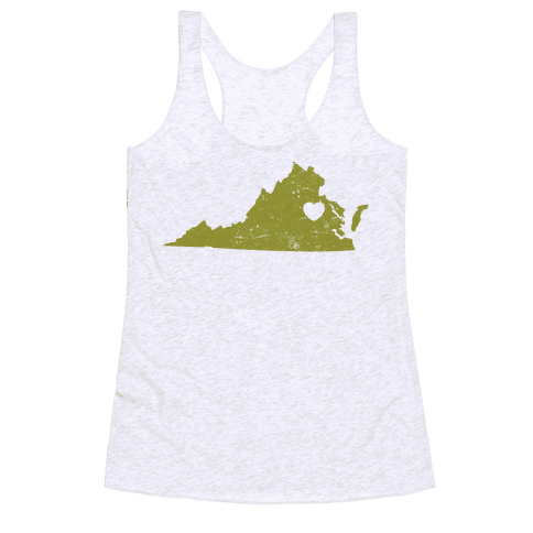 Virginia Heart Racerback Tank Top