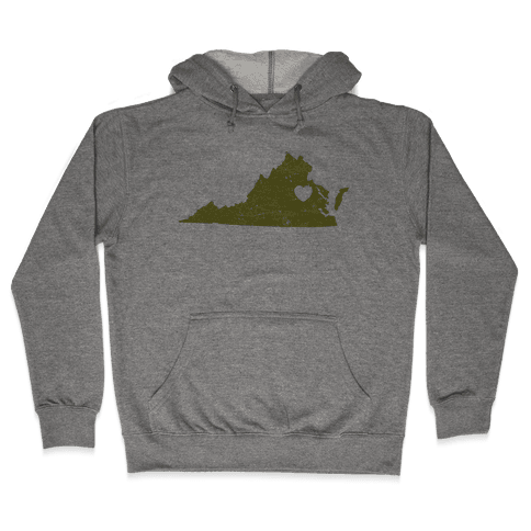 Virginia Heart Hooded Sweatshirt