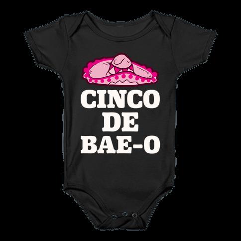 Cinco De Bae-o Baby Onesy
