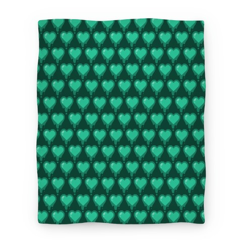 Bleeding Heart Blanket (Mint) Blanket