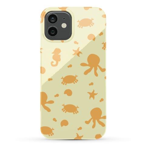 Sea Creature Pattern (Yellow) Phone Case