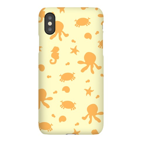 Sea Creature Pattern (Yellow) Phone Case