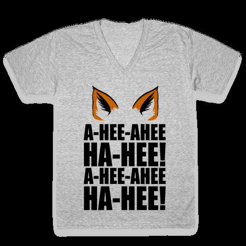 The Fox Says... V-Neck Tee Shirt
