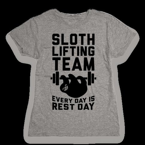 Sloth Lifting Team Womens T-Shirt
