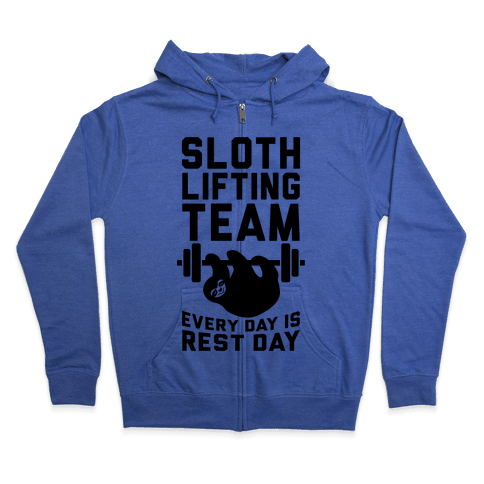 Sloth Lifting Team Zip Hoodie